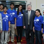 GAPI president Dr Indrakrishnan and Senator David Shafer with volunteers