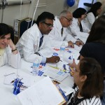 Volunteer physicians Dr Amita Ghia, Dr Kumereswran, Dr Sampat &  Dr Asha Parikh consulting their patients.