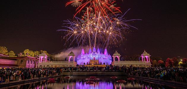 Spectacular Diwali celebrations at BAPS Temple