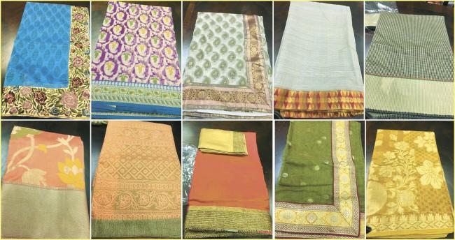 Cool, Crisp Cotton Saris