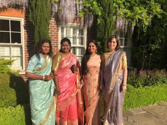 Elegant saris grace the royal wedding